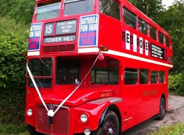 Red Routemaster Bus for weddings in Newport